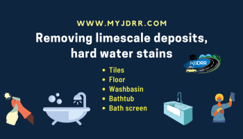 Removing limescale deposits, hard water stains