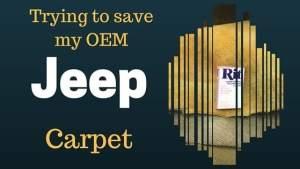 Saving the OEM Jeep Carpet Original Jeep Carpet, #Wagoneer, #Jeep, #JEEPLIFE, #Jeepers, #JeepKids