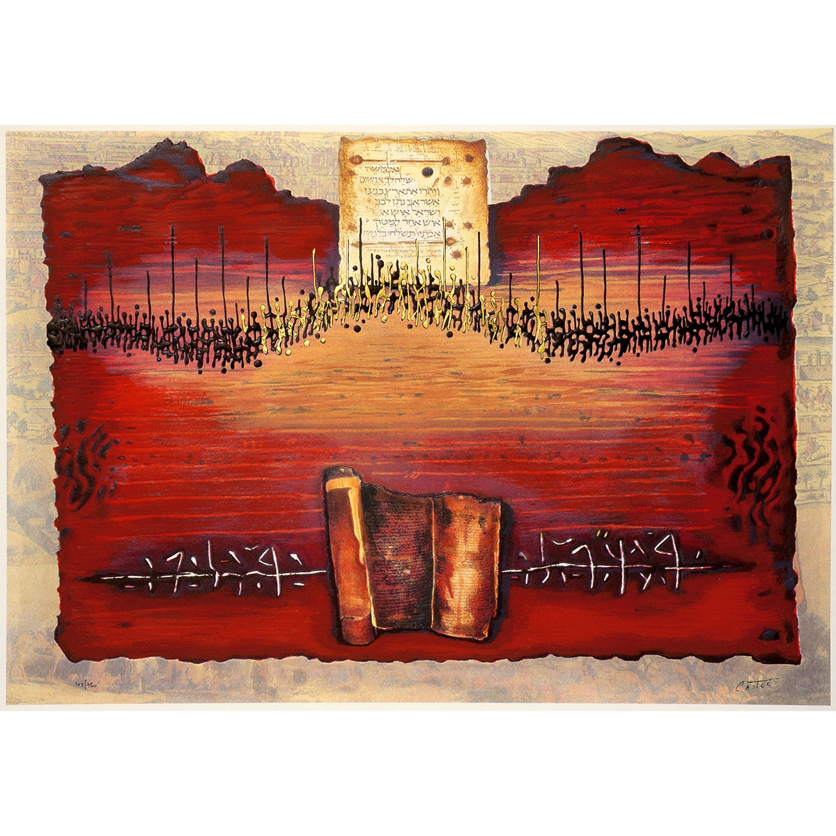 Limited Edition Serigraph Of Moshe Castel S Land Of Canaan