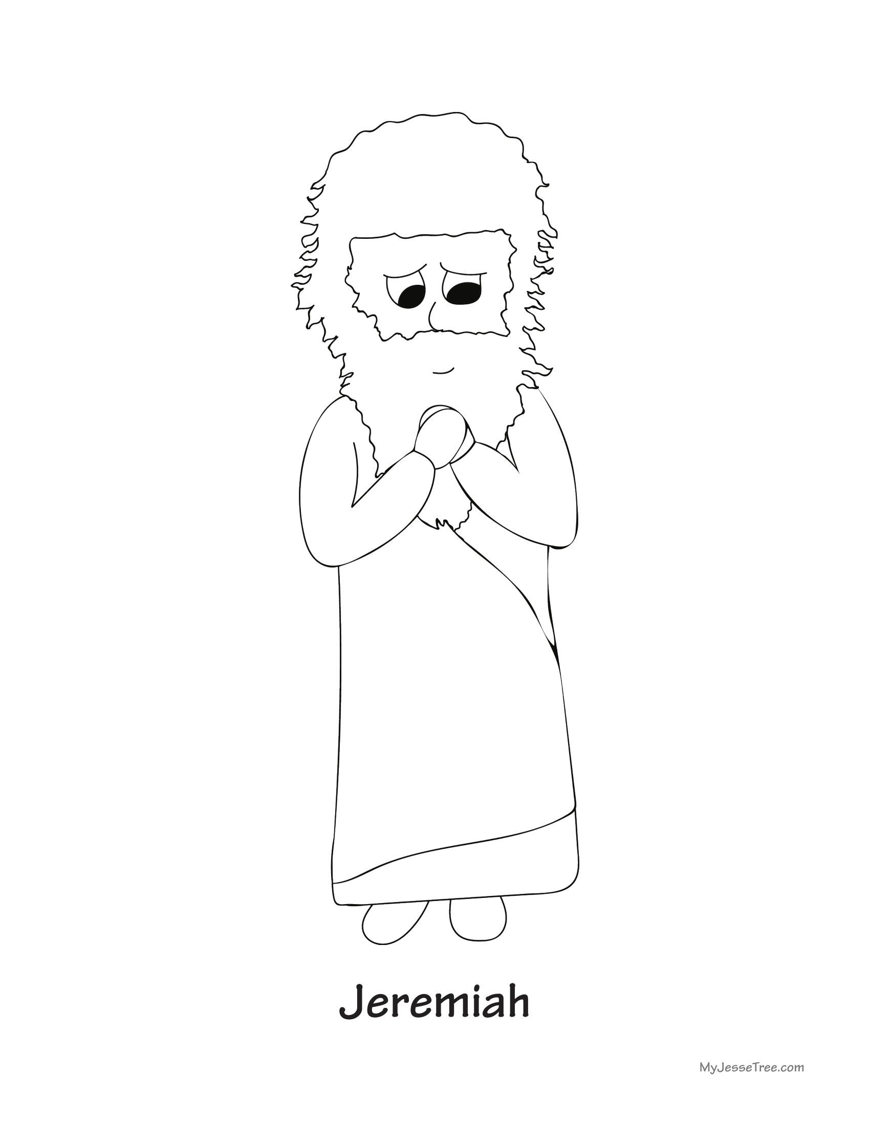 Jeremiah 313 Colouring Sheet Sketch Coloring Page