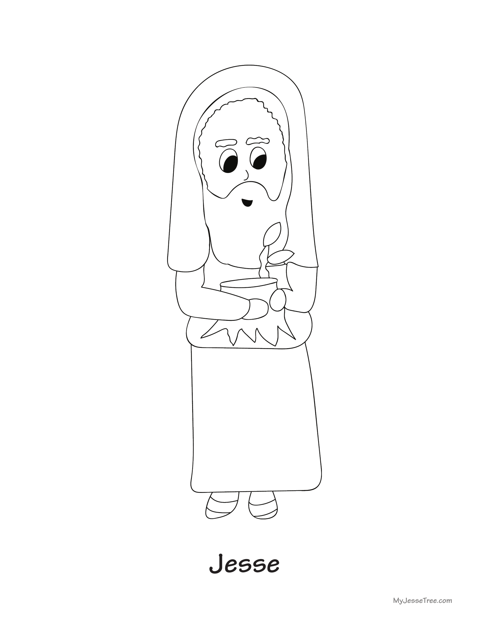 Free Printable Jesse Tree Ornaments Sketch Coloring Page