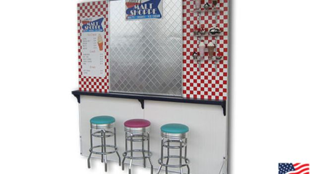 1950's malt shop diner to rent