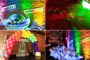 Rainbow Bat Mitzvah Decor