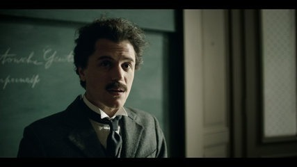 Picture of actor playing young Albert Einstein
