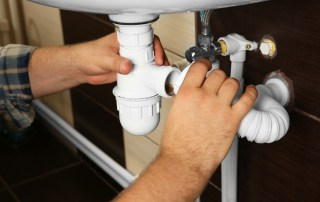 fixing under the sink pipes