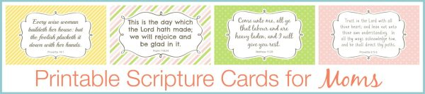 Printable Scripture Cards for Mom store