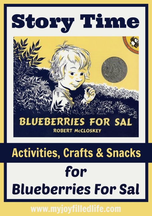 Blueberries for Sal Story Time Activities, Crafts, and Snacks