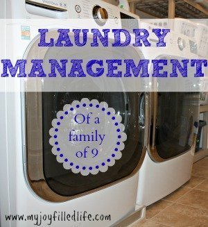 Laundry management of a family of 9