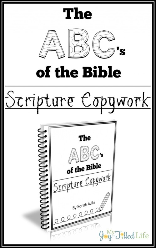 ABCs of the Bible Scripture Copywork