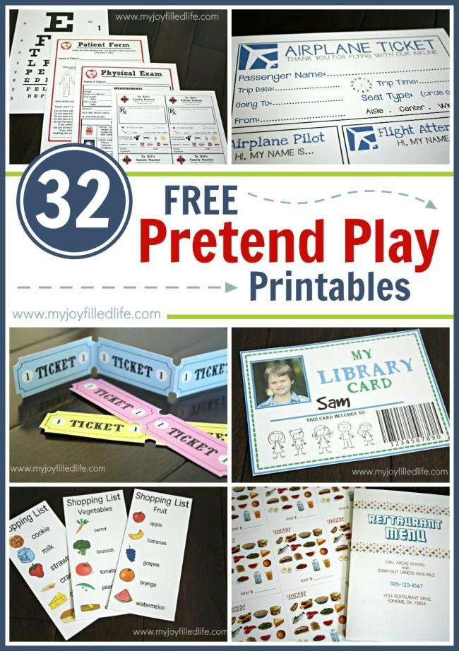 Pretend Teacher Worksheets : Free pretend play printables my joy filled life