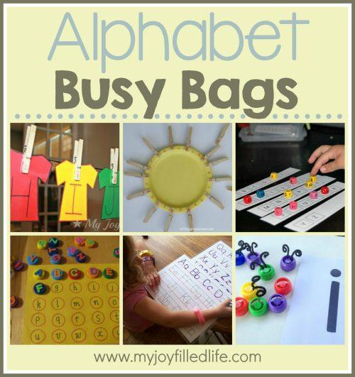 Alphabet Busy Bags