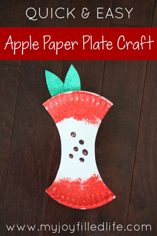 Quick & Easy Apple Paper Plate Craft