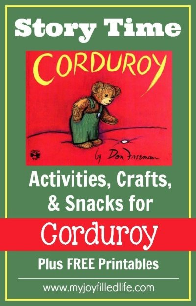 Corduroy - Story Time Activities - My Joy-Filled Life