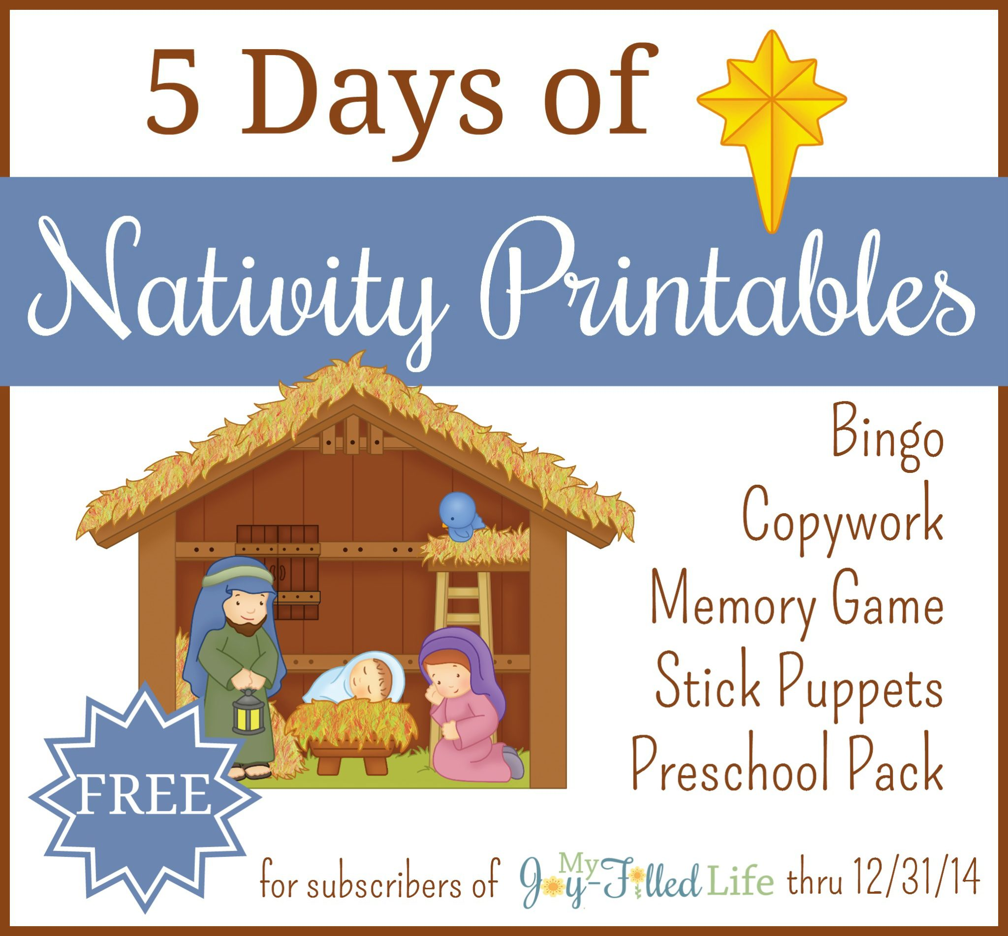 Free Printable Nativity Bingo Game