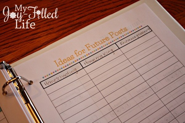 Blog Planner 5