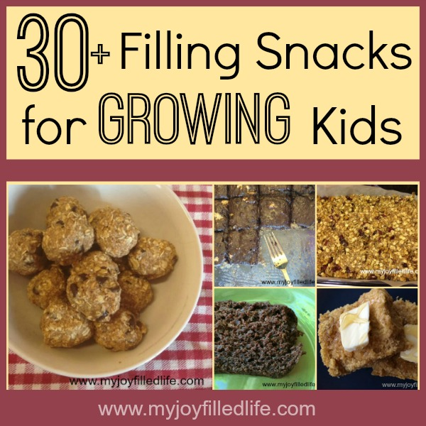 Snack ideas for kids that fill them up quick!