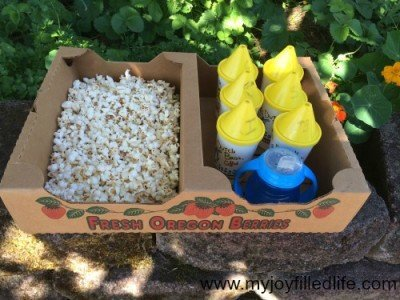 Popcorn snack for kids