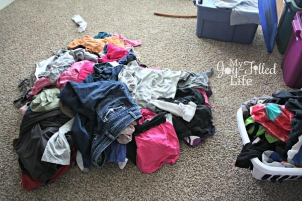 Home Tour Laundry Pile