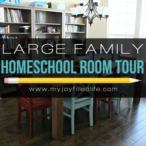 Large Family Homeschool Room Tour