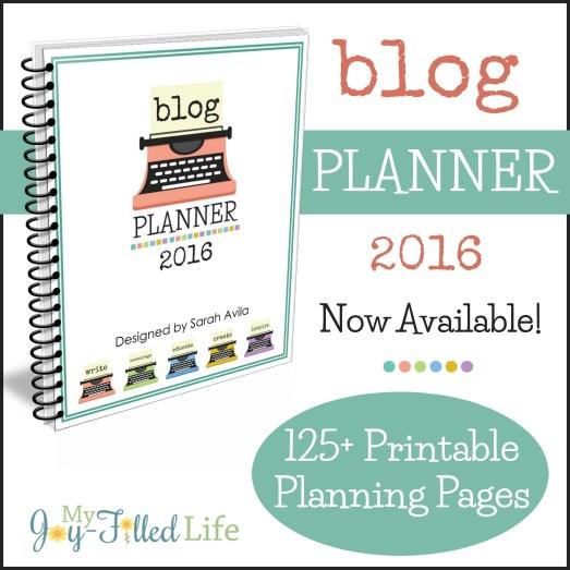 Blog Planner 2016 graphic 3