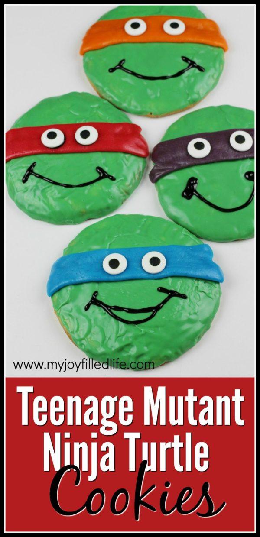 Teenage Mutant Ninja Turtle Sugar Cookies #TMNT