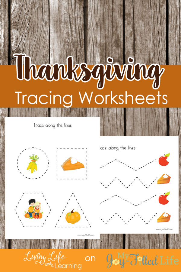 Get your preschooler writing with these Thanksgiving Tracing Worksheets to add some spice to the fall season and make learning fun