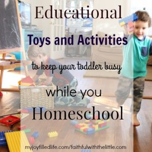 Educational Toys and Activities to Keep Your Toddler Busy While You Homeschool