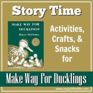 Make Way For Ducklings – Story Time Activities