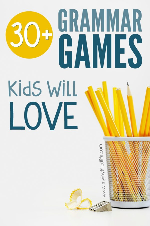 Over 30 grammar games that will make grammar more fun and memorable for kids. Great for homeschoolers and teachers! #grammar #learninggames #grammargames