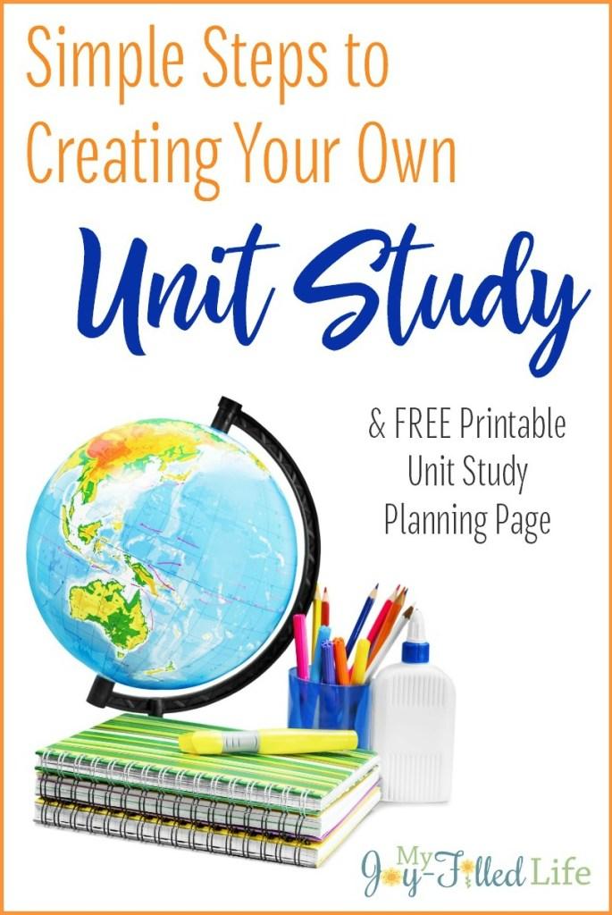 Unit Study Pin