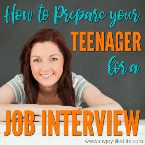 How to Prepare Your Teenager for a Job Interview