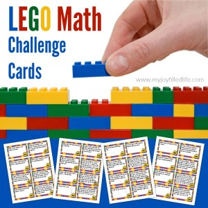 FREE Printable LEGO Math Challenge Cards