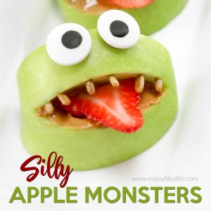 Silly Apple Monsters Snack for Kids