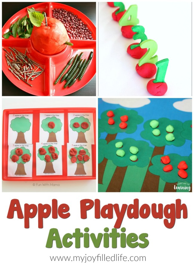 Apple Playdough Activities