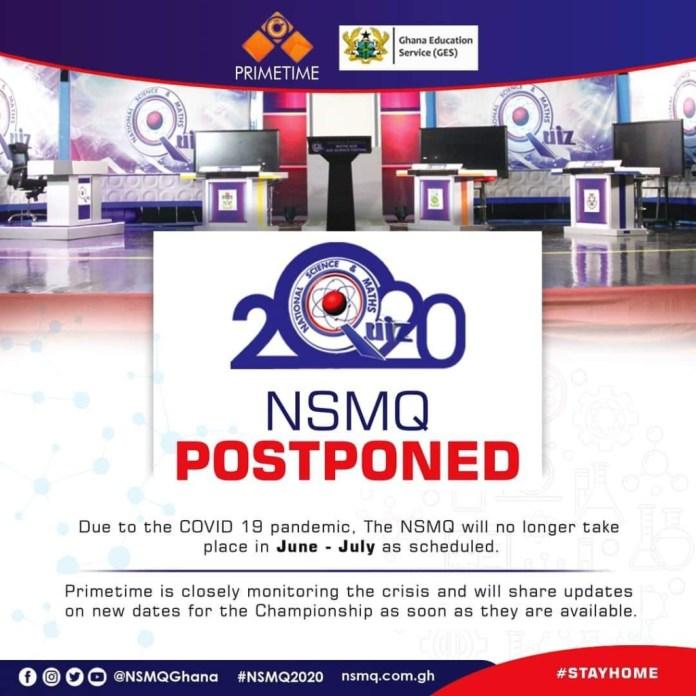 NSMQ 2020 postponed till further notice 2