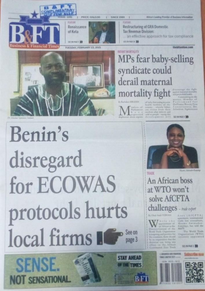 Newspaper headlines of Tuesday, February 23, 2021 17