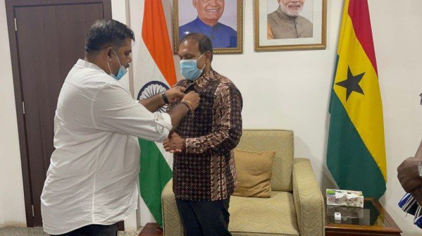 Rotary Club inducts Indian High Commissioner