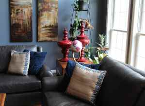 The client wanted the living room to be warm and welcoming, and very functional.