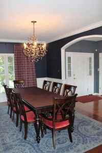 My client wanted to keep her existing dining room table and chairs, so we worked with those as the starting point for the room.