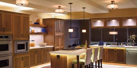 Accent lighting can elevate your design. Via kichler.com