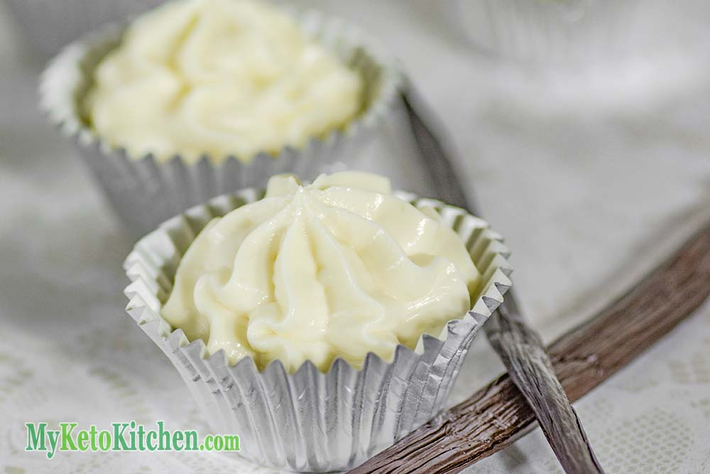 Low Carb Vanilla Cheesecake Fat Bomb Cups