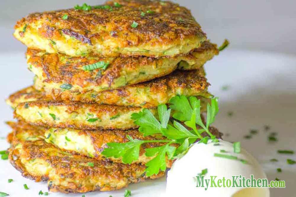 Keto Zucchini Fritters Recipe – Gluten Free – EASY Delicious & Healthy