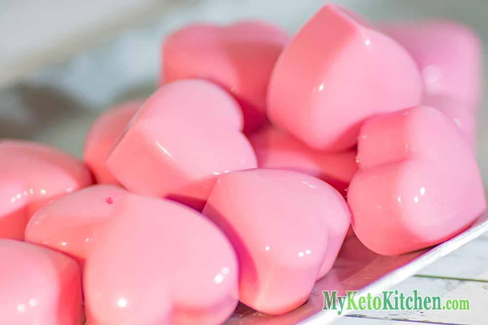 Raspberry Fat Bombs Cream Heart Jellies