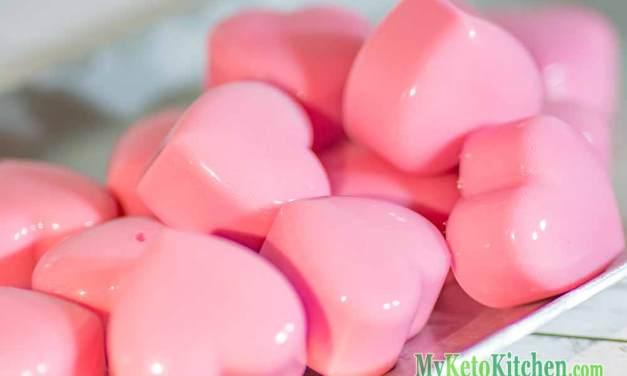 Raspberry Cream Fat Bombs – Cream Heart Jellies – Original Low Carb Recipe
