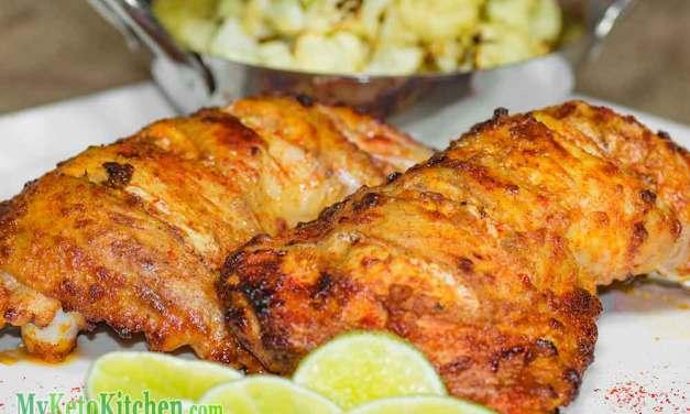 Keto Tandoori Chicken Recipe – Healthy Indian – Mildly Spicy!