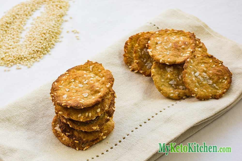 Sesame Sea Salt Keto Crackers