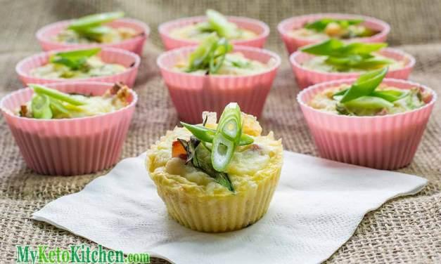Keto Breakfast Muffin Recipe – Cheese and Bacon – Gluten Free