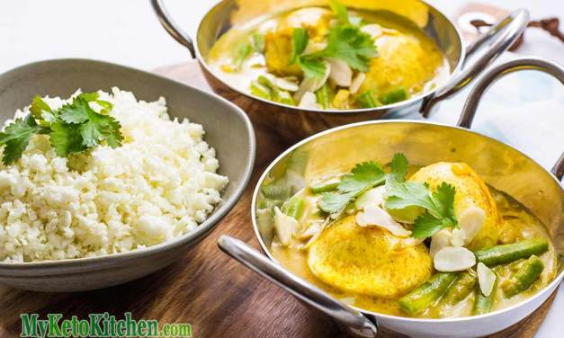 "Low Carb Indian Boiled Egg Curry ""Keto & Vegetarian"""