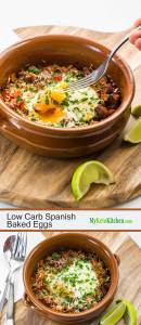 Low Carb Spanish Baked Eggs
