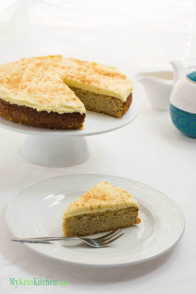 Slice of Low Carb Spice Cake